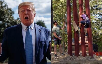 8-ročné dievča preliezlo repliku Trumpovej steny proti imigrantom. Tvrdil, že to nedokáže ani profesionálny horolezec