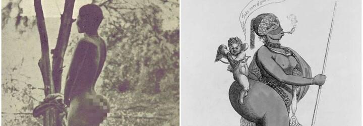 Hotentotská Venuše vystupovala polonahá v kleci. Lidi fascinoval její zadek a výrazné genitálie
