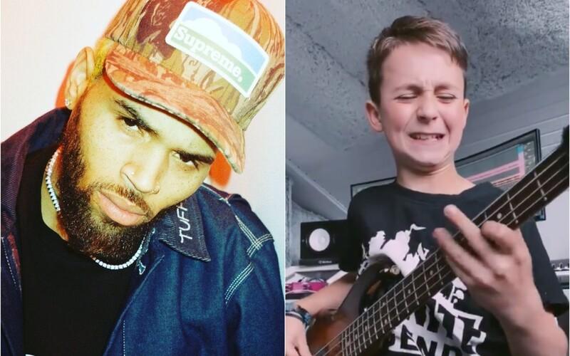 Spevák Chris Brown zdieľal na 80-miliónovom profile mladého slovenského basgitaristu Arona Hodeka.