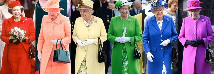 Jak to vypadá na návštěvě ve skříni královny Alžběty II.?