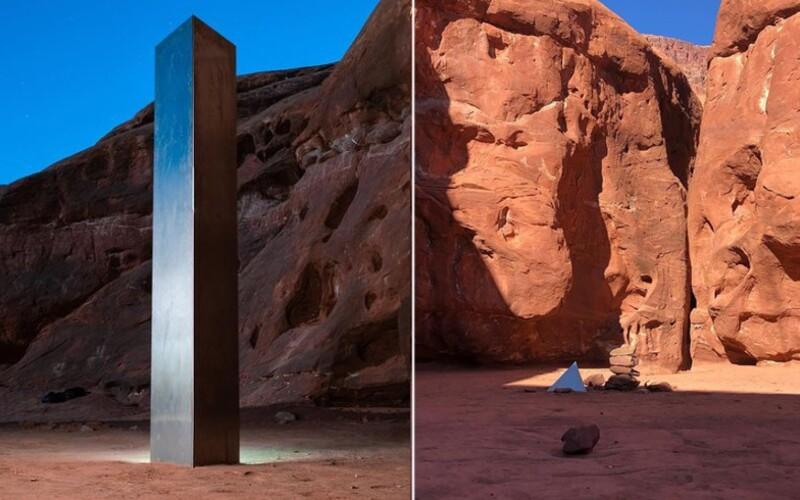 Záhadný kovový monolit, ktorý našli uprostred púšte, niekto potajomky odstránil. Nikto nevie, ako sa tam dostal, ani ako zmizol.