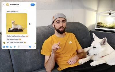 Youtuber Matúš a Sloboda zvierat vytvorili prvého psieho chatbota. Vyskúšaj si, čo musí absolvovať každý majiteľ psíka.
