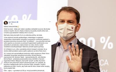 """Premiér Matovič sa vyhráža organizátorom """"fitnes protestov"""". Ak budete blokovať diaľnice, zabudnite na podporu štátu, tvrdí"""