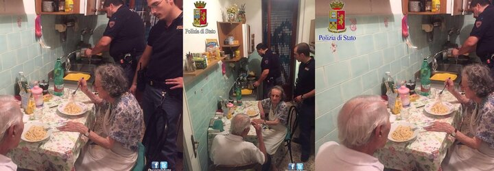 Staručkí manželia boli takí osamelí, že ich plač privolal až policajtov. Tí im navarili špagety a ubezpečili ich, že svet nie je až taký zlý