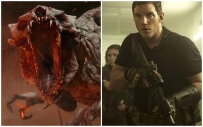 Chris Pratt likviduje mimozemšťanov z budúcnosti. Ako si jeho postava učitela poradí so sci-fi zbraňami?