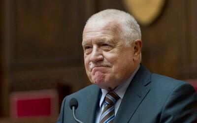 Václav Klaus je opět v nemocnici.
