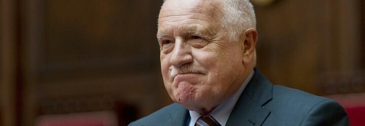 Klaus podal žalobu na ministerstvo zdravotnictví kvůli pokutě za nenasazenou roušku