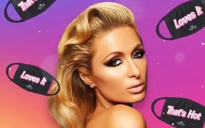 Paris Hilton nosí síťkovanou roušku s diamanty. Před koronavirem jí zřejmě nepomůže.