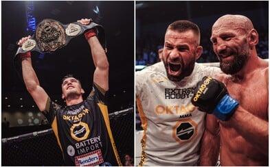 OKTAGON MMA má nového šampiona! Viktor Pešta rozbil německému Terminátorovi nos a doktor bitvu zastavil