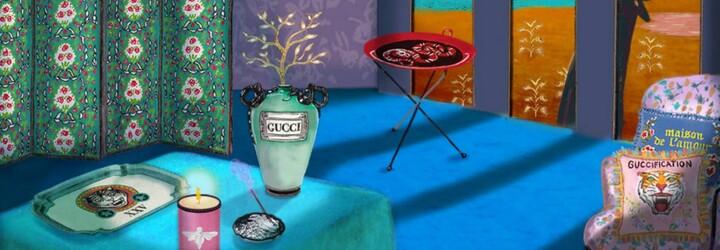 Gucci najnovšie prichádza na trh s radom nábytku a dekorácií. Za vankúš, sviečku či tácku na jedlo si pýta tisíce eur