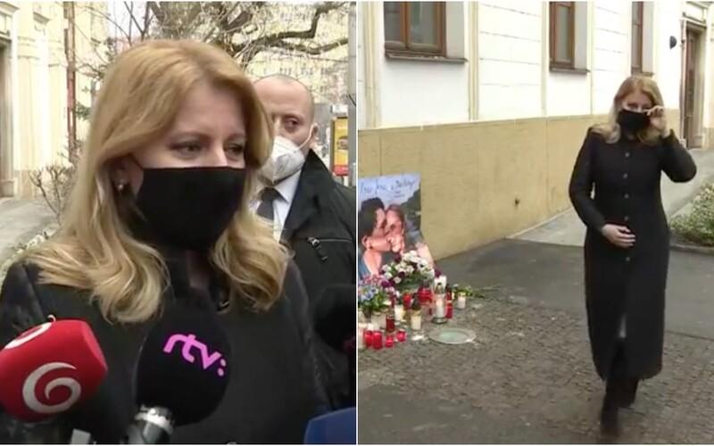 Tři roky po vraždě: Zuzana Čaputová si uctila památku Jána Kuciaka a Martiny Kušnírové, apeluje na odsouzení objednavatelů.