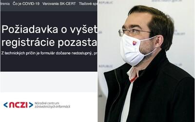 Objednávací formulár na Ag testy od tlačovky nefunguje. Veľmi nás teší záujem, reagoval Krajčí.