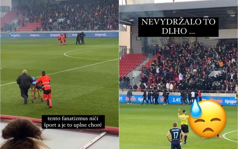 Na derby Slovana a Trnavy sa ultras ohadzovali svetlicami a bili, zasahovali aj zdravotníci.