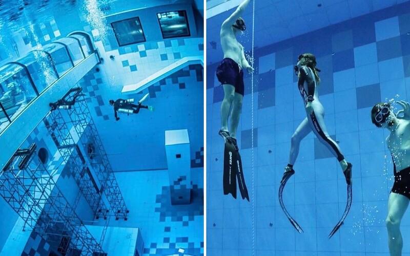 V Poľsku otvorili najhlbší potápačský bazén na svete: Na jeho dne nájdeš aj repliku vraku lode