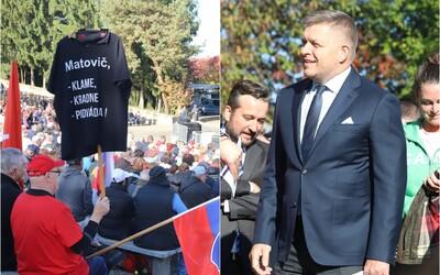 Ficovi hrozí pokuta 20-tisíc eur. Na jeho proteste v červenom okrese nemali účastníci rúška.
