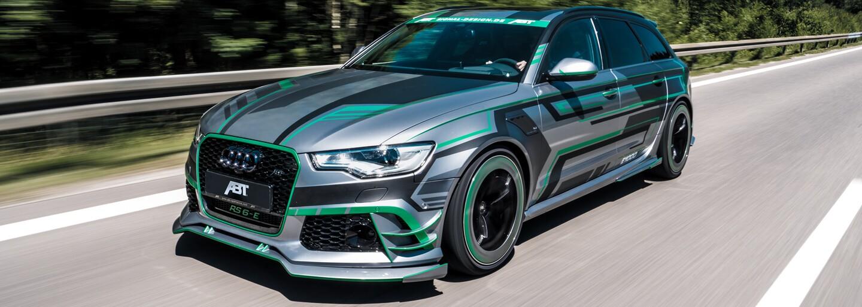 ABT přetvořilo RS6 na hybridní, 1018koňovou bestii. V8 zkombinovali s elektromotorem