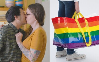 IKEA bojuje proti homofobům vytvořením speciální místnosti a vyvěšením vlajky pokroku.