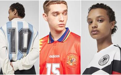 Adidas Originals spomína na bývalé svetové šampionáty vo futbale kolekciou historických futbalových dresov