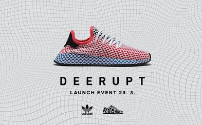 adidas ťa pozýva na oficiálne uvedenie tenisiek Deerupt do predaja. O program sa postarajú napríklad Pil C alebo The Pastels