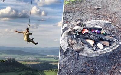 Adrenalínová hojdačka na severe Slovenska bude pravdepodobne zlikvidovaná. Za všetko môžu neporiadni návštevníci