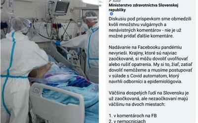 Nezaočkovaní majú väčšinu na dvoch miestach: v nemocniciach a na Facebooku. Takto rezort zdravotníctva zničil antivaxerov.