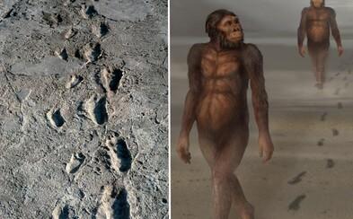 Africké bahnisko zachovalo stopy našich pradávných předků během procházky nedaleko vulkánu