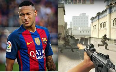 I Neymar podlehl známé hře. Za dva týdny hrál více než 40 hodin Counter-Strike: Global Offensive