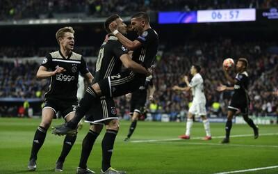 Ajax naložil Realu Madrid 4 góly a vyřadil ho z Ligy mistrů. Sen o 4 trofejích po sobě se rozplynul
