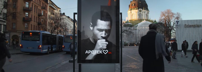 Pokud si u tohoto billboardu zapálíš, zakašle. Švédská protikuřácká kampaň využívá inteligentní reklamy