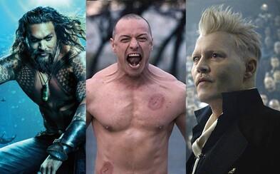 Akční Aquaman, magické Fantastic Beasts 2 i mysteriózní Glass. 10 nejlepších trailerů z Comic-Conu