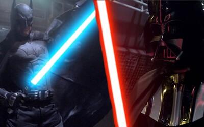 Ako by dopadol súboj Batmana s Darth Vaderom so svetelnými mečmi?