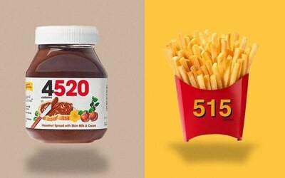 Ako by vyzerali svetoznáme produkty značiek, keby názvy nahradil počet kalórií? Možno by si sa prestal napchávať Nutellou či kolou