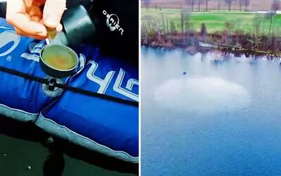 Ako dokázala jediná polievková lyžica olivového oleja zbaviť jazero vĺn? Zaujímavý experiment vysvetľuje, ako olej zareagoval na vodu
