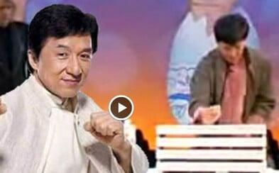 Ako Jackie Chan rozbil 12 dosiek s nerozbitým vajíčkom v ruke