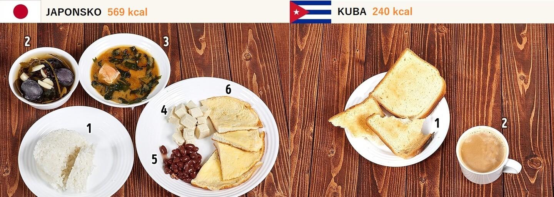 Jak objemné jsou snídaně po celém světě? Lidé na Kubě začínají svůj den zlehka