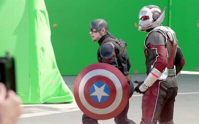 Ako sa natáčalo Captain America: Civil War a ako vyzerali súboje pred pridaním CGI?