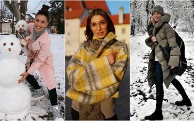 Ako sa známe Slovenky obliekajú počas zasnežených dní? Inšpiruj sa outfitmi Soni Skoncovej či Dary Rolins