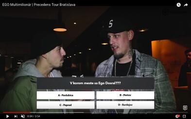 Ako zvládli kvíz o Egovi Separ, Majk Spirit či návštevníci Precedens Tour v Bratislave? (Video)
