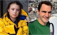 Aktivisti kritizujú Rogera Federera, pridala sa aj Greta Thunberg. Odkazujú mu, že sa má zobudiť