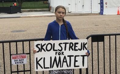 Aktivistka Greta Thunberg a stovky školáků protestovaly před Bílým domem. Trumpovi posílají jasný vzkaz