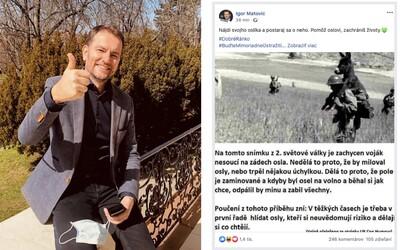 Aktualizované: Igor Matovič zdieľal na Facebooku hoax, o ktorom sa diskutuje už niekoľko dní. Nájdi svojho oslíka, píše