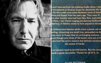 Alan Rickman si viedol celú hereckú kariéru denník: Popisuje zákulisie slávnych filmov a vydajú ho knižne