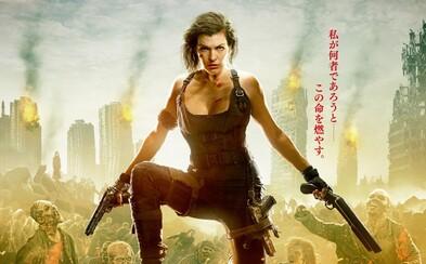 Alice bojuje s hordami zombíkov na štýlových plagátoch posledného dielu série Resident Evil