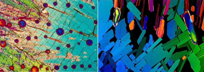 Alkohol vyzerá pod mikroskopom prekvapujúco dobre. Z jednofarebných tekutín sa stávajú rafinované umelecké diela