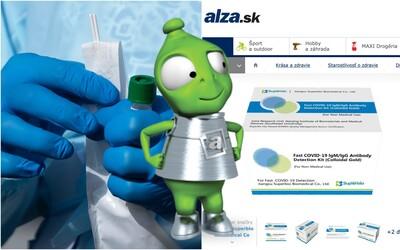 Alza je pripravená predávať testy na koronavírus, balenie bude stáť približne 70 €