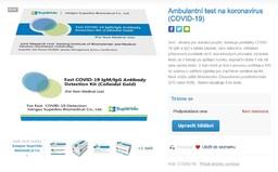 Alza je připravená prodávat testy na koronavirus, balení vyjde zhruba na 2000 korun