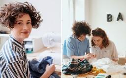 Alžbeta študovala klasickú hudbu, dnes má vlastné odevné štúdio. Textilnému odpadu dáva druhú šancu (Rozhovor)