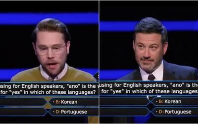Američan nevedel v Milionárovi uhádnuť česko-slovenské slovo. Prišiel preto o pol milióna dolárov