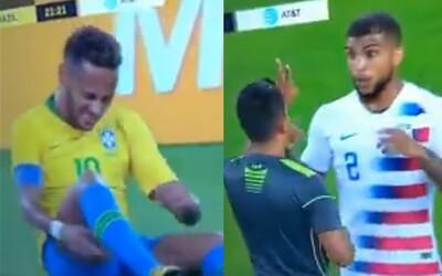 Američan po zákroku na Neymara rozosmial internet pomocou 6 slov