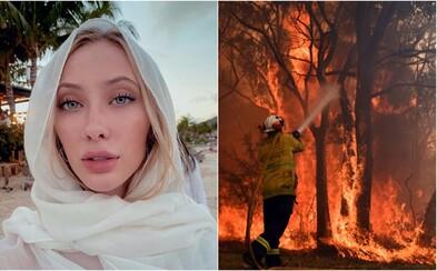 Američanka, která posílá své nahé fotky za příspěvek pro hořící Austrálii, už výzvu odvolala. Žádosti nestíhá vyřizovat